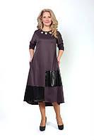 Женское трикотажное платье ниже колена платье Тодес, размеры 46,48,50