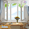 """Трехстворчатое окно с двумя поворотно-откидными створками Rehau 70 Design 1800х1400 """"Окна Маркет"""""""