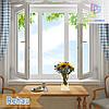 Трехстворчатое окно с двумя поворотно-откидными створками Rehau 60, Rehau 70