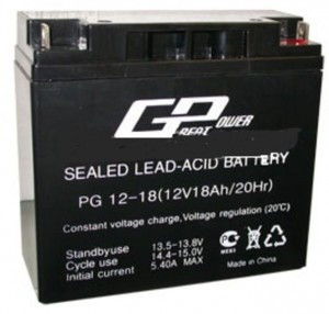 Аккумулятор AGM - 18 Ач, 12В гелевый TopPower (Great Power) PG 12-18