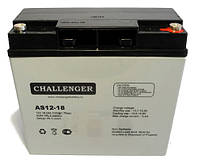 Аккумулятор AGM - 18 Ач, 12V гелевый Challenger AS12-18