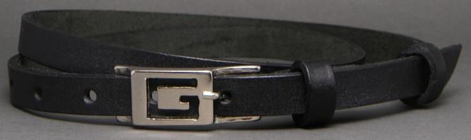 Женский ремень из натуральной кожи Svetlana Zubko 3K151 черный 1.5 см