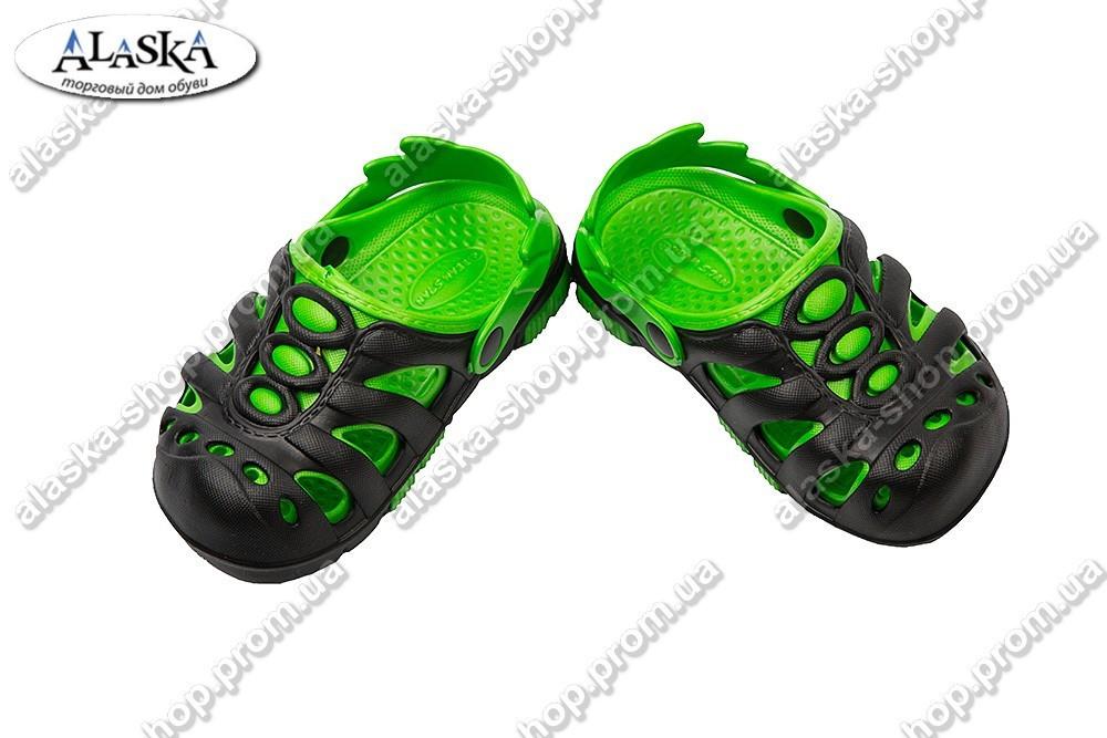 Детские сабо черно-зеленые (Код: Сабо дети)