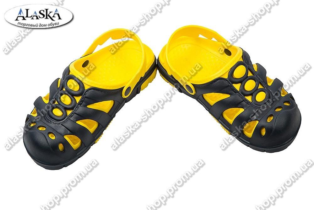 Детские сабо черно-желтые (Код: Дети сабо)