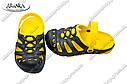 Детские сабо черно-желтые (Код: Дети сабо), фото 2