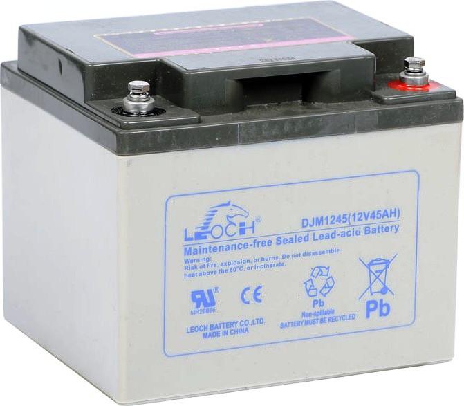 Аккумулятор AGM - 45 Ач, 12В гелевый Leoch DJM 1245
