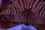 Блискуча, стрижена коричнева однотонна шкура з візерунком під зебру, фото 6