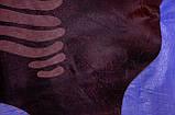 Блискуча, стрижена коричнева однотонна шкура з візерунком під зебру, фото 5