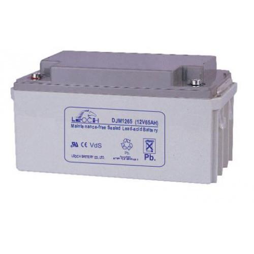 Аккумулятор AGM - 65 Ач, 12В гелевый Leoch DJM 1265