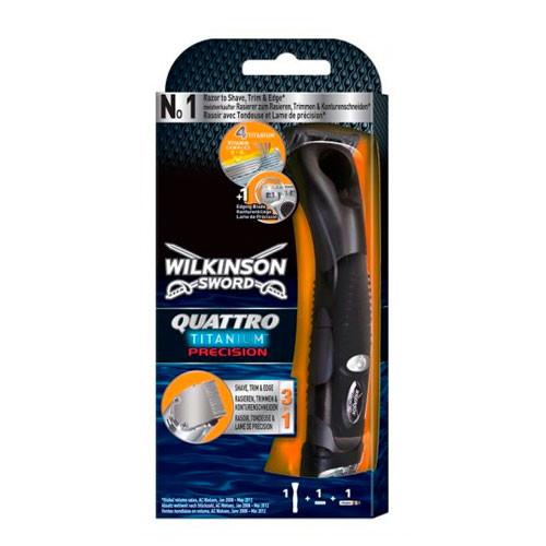 Wilkinson Sword Quattro Titanium Precision мужской станок для бритья (1 картридж)