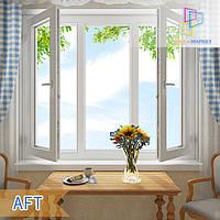 Дешевые трехстворчатые окна с двумя открывающимися окнами