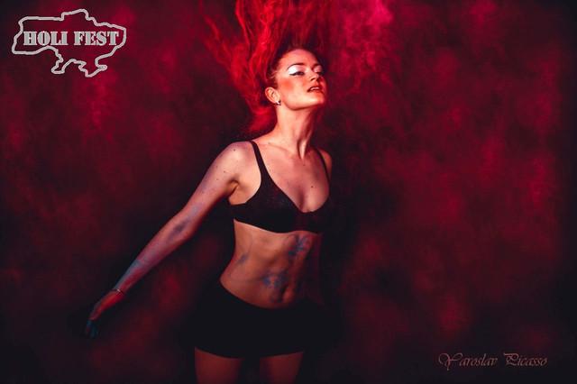 Червоний колір фарби Холі