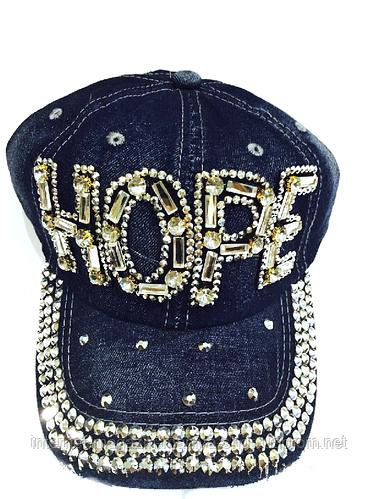 Бейсболка женская  джинсовая HOPE