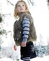 Жилетка меховая для девочки размер 104/жилетка хутряна для дівчинки.