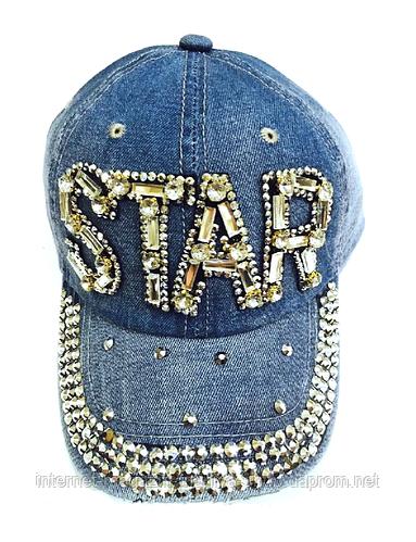 Бейсболка женская  джинсовая STAR
