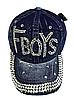 Бейсболка женская  джинсовая FBOYS