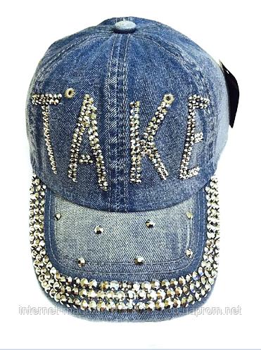 Бейсболка женская  джинсовая TAKE