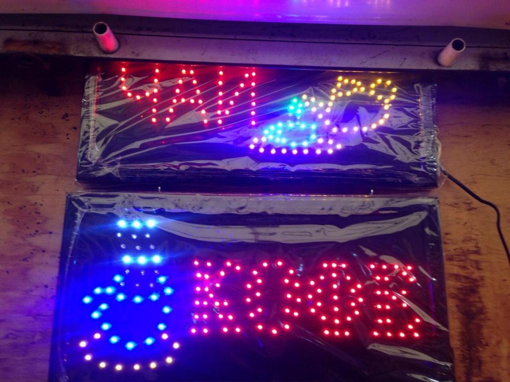 Вывеска светодиодная табло Led ЧАЙ 48х25 см