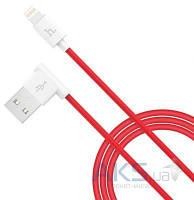USB кабель Hoco L Shape Lightning Red