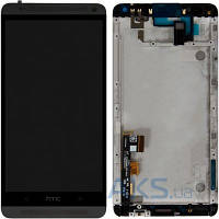 Дисплей (экран) для телефона HTC One Max 803n + Touchscreen with frame Original Black