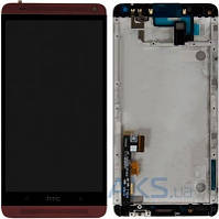 Дисплей (экран) для телефона HTC One Max 803n + Touchscreen with frame Original Red
