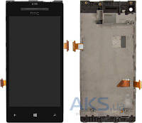 Дисплей (экран) для телефона HTC Windows Phone 8X C620e + Touchscreen with frame Original Black