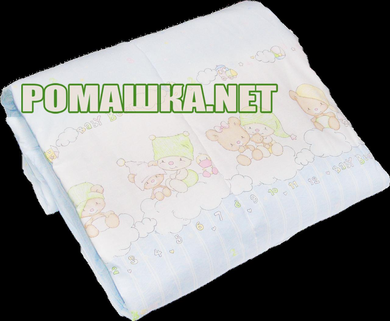 Одеяло детское на силиконе, верх хлопок, 140х100 см, ТМ Ромашка