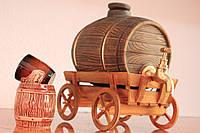 Бочка для вина (лепка виноград ) золото 3л.