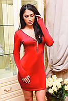 Платье короткое змейка спереди ВИВ 7068