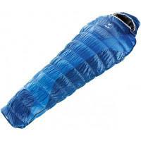 Спальний мішок Deuter Exosphere +2° L cobalt-steel левый (37620 3310 1) кокон, -12/+2/+8, темно-сині