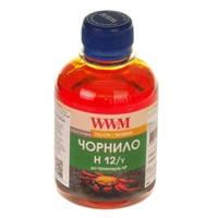 Чернила WWM для HP №10/11/82 200г Yellow Водорастворимые (H12/Y)