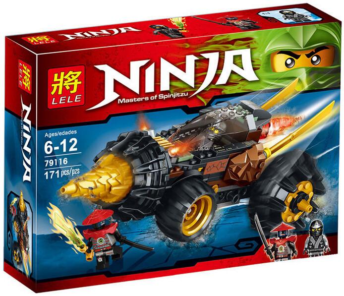 """Конструктор Lele Ninja (аналог Lego Ninjago) 79116 """"Земляной бур Коула"""",  171 дет"""