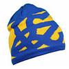 Шапка вязаная унисекс в патриотическом стиле, жёлто-синяя