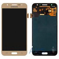 Дисплей (экран) для телефона Samsung Galaxy J5 Duos J500F, Galaxy J5 Duos J500H, Galaxy J5 Duos J500M + Touchscreen Original Gold