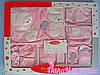 Комплект нежно розового цвета для девочки, 10 предметов
