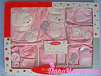 Комплект нежно розового цвета для девочки, 10 предметов, фото 1