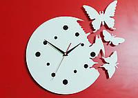 Часы настенные Бабочки white