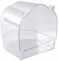 Бассейн Trixie для птиц прозрачный,14х15х15см