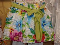 Нарядная юбка с цветами (фатин), с зеленым поясом, итальянский бренд Alice Pi