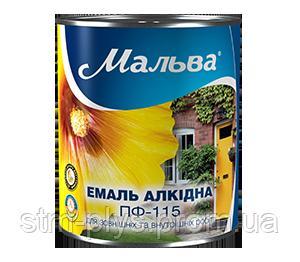 Эмаль алкидная ПФ-115, светло-голубая, ТМ «Мальва» / код цвета №42 / по 2,8 кг - СПЕЦТЕХМОНТАЖ в Харькове