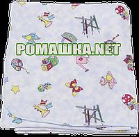 Пелёнка фланелевая 110х90 см (фланель, байковая, байка), однотонная с рисунком, Украина Ц021