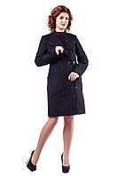 Женское демисезонное пальто черное В - 937 Cristina Drap