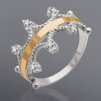 Эксклюзивные серебряные кольца с золотом от производителя