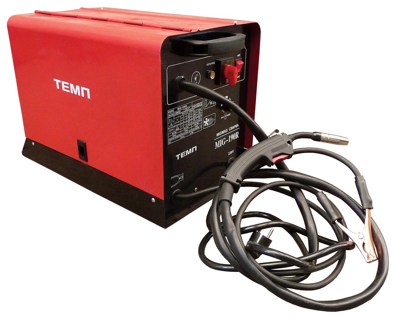 Инверторный сварочный полуавтомат ТЕМП MIG-190UR 2 в 1