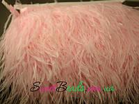 Страусиные перья на ленте, розовые