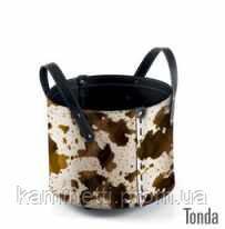 Сумка для дров дровник на колесиках кожа Tonda cavallino