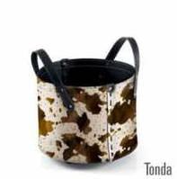 Сумка для дров кожа Tonda cavallino темно коричневая