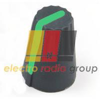 Ручка AG 4 для потенциометра черная с зеленой вставкой