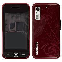 Корпус для Samsung Star S5230, бордовый, оригинал