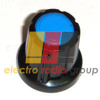 Ручка AG 5 для потенциометра черная с синей вставкой
